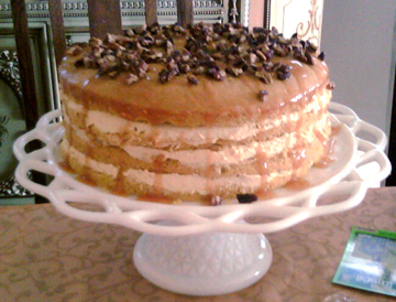 Luscious Four Layer Pumpkin Cake